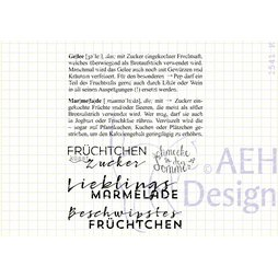 AEH Design Gummistempel 1541K - Definition Marmelade...