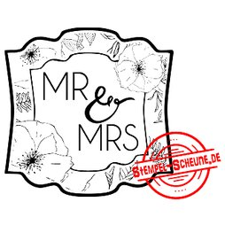 Stempel-Scheune Gummistempel 87 - Label Mr. & Mrs....