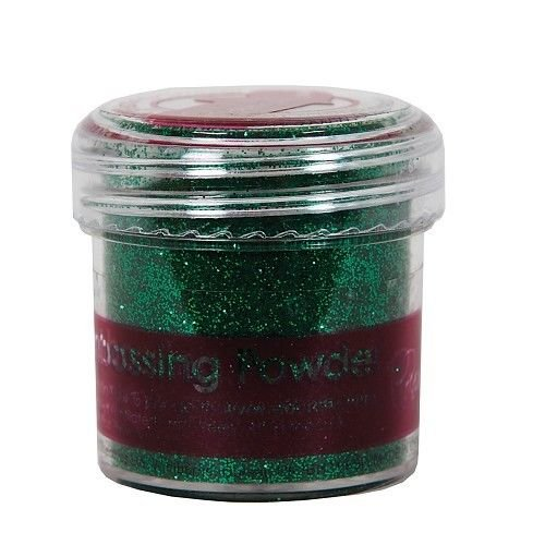 Docrafts Embossingpulver Tinsel Green - 28ml Grün Embossing Pulver Papermania