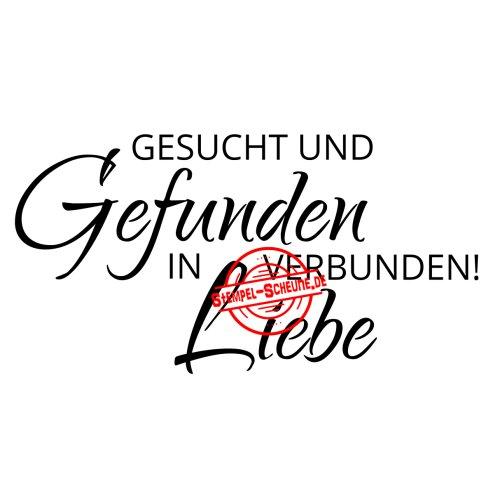 Stempel Scheune Gummistempel 283 Liebe Hochzeit Gesucht Und