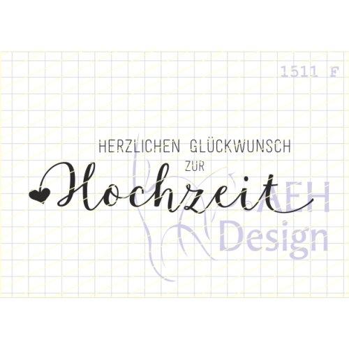Aeh Design Gummistempel 1511f Herzlichen Gluckwunsch Zur Hochzeit