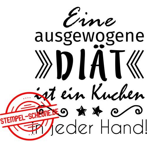 Stempel Scheune Gummistempel 309 Diat Kuchen Hand Spruch Stern