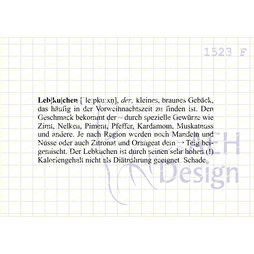 AEH Design Gummistempel 1523F - Definition Lebkuchen...