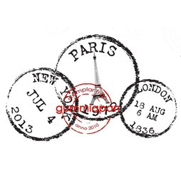Gummiapan Gummistempel 1310paris - Paris London New York...