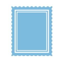 Dini Design Gummistempel 723 - Briefmarke Post...