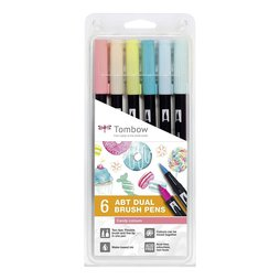 Tombow 6 ABT Dual Brush Pens - Candy Colours Farben...