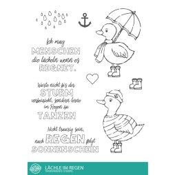 Stempel Scheune Stempelset Ssc018 Ente Lachen Regen Tanzen Maritime Freude