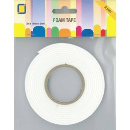 JeJe 3.3000 - Foam Tape 2m x 12mm x 2mm Abstandshalter...
