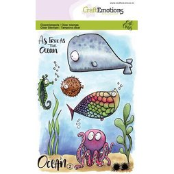 CraftEmotions Stempelset Ocean 2 - Clearstamps Ozean...