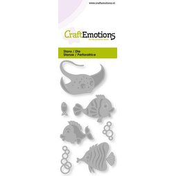 CraftEmotions Stanzschablone Tropical Fish - Maritime...