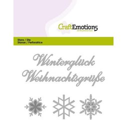 CraftEmotions Stanzschablone Winterglück -...