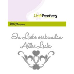 CraftEmotions Stanzschablone Alles Liebe - In Liebe...