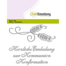 CraftEmotions Stanzschablone Einladung Kommunion -...