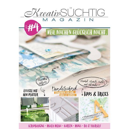 Kreativsüchtig Magazin Nr. 4 - Scrapbooking Mixed Media Karten do it yourself