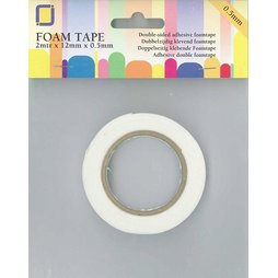 JeJe 3.3005 - Foam Tape 2m x 12mm x 0,5mm Abstandshalter...