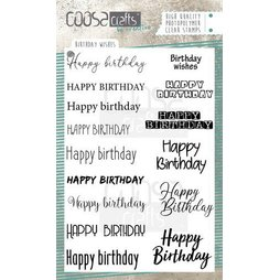CoosaCrafts Stempelset Birthday wishes - 15 Stempel...