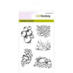 CraftEmotions Stempelset Water Drops - 5 Clearstamps...