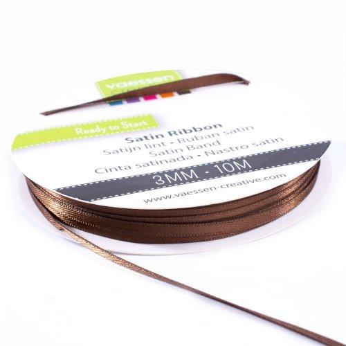 Vaessen Creative Satinband Dunkellila 3 mm x 10 m Schleifenband Geschenkband