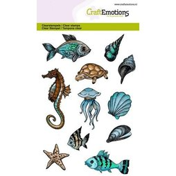 CraftEmotions Stempelset Sea Animals - 11 Clearstamps...