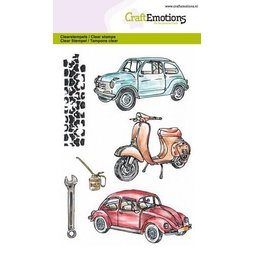 CraftEmotions Stempelset Classic Cars 2 - 6 Clearstamps...