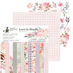 Piatek13 Paper Pad Love in Bloom - 15 x 15 cm 24 Blätter...