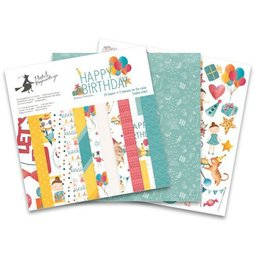 Piatek13 Paper Pad Happy Birthday  15 x 15 cm 24 Blätter...