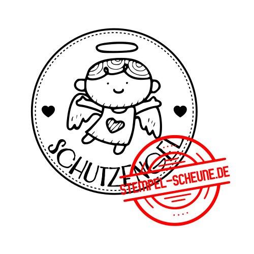 Stempel Scheune Gummistempel 402 Schutzengel Junge Herz Taufe Kreis Engel