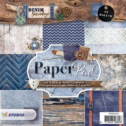 StudioLight Paper Pad Denim Saturdays 15 x 15 cm 36...