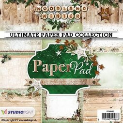 StudioLight Paper Pad Woodland Winter 15 x 15 cm 36...