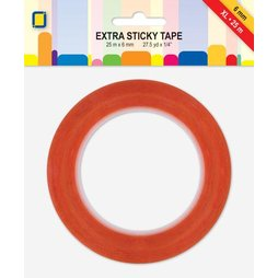 Extra Sticky Tape XL 25 mtr x 6 mm doppelseitiges...