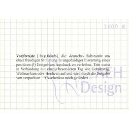 AEH Design Gummistempel 1600E - Vorfreude Definition...