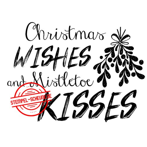 Stempel-Scheune Gummistempel 65 - Christmas Wishes and Mistletoe Kisses Zweig