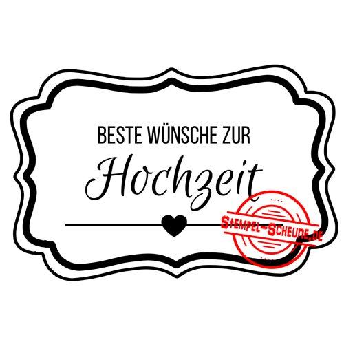 Stempel-Scheune Gummistempel 9 beste Wünsche zur Hochzeit Liebe Herz ...