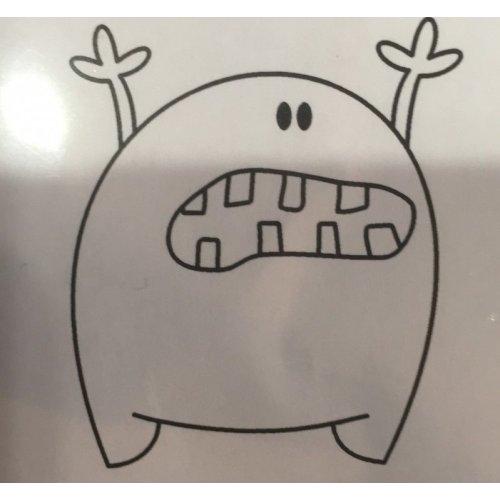 Gummiapan Gummistempel 15090204 Monster Zähne Erschrecken Süß
